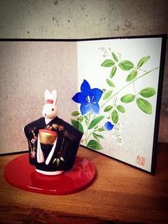 うさぎと桔梗.JPG